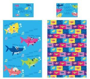 Shark-Family-Junior-Single-Duvet-Cover-Reversible-Bedding-Baby-Daddy-Mummy