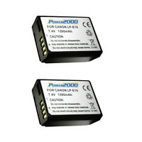 2 Pcs Power2000 Lp-e10 Rechargeable Battery For Canon Eos T3 T5 T6 Slr Camera