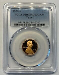 1979-S-Type-1-Lincoln-Cent-PR69RD-DCAM-PCGS-Proof-69-T1-Red-Deep-Cameo-Graded