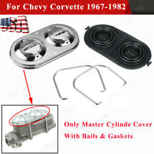 Master Cylinde Cover Chrome With Bailsampgaskets Ready For Chevy Corvette 1967 1982