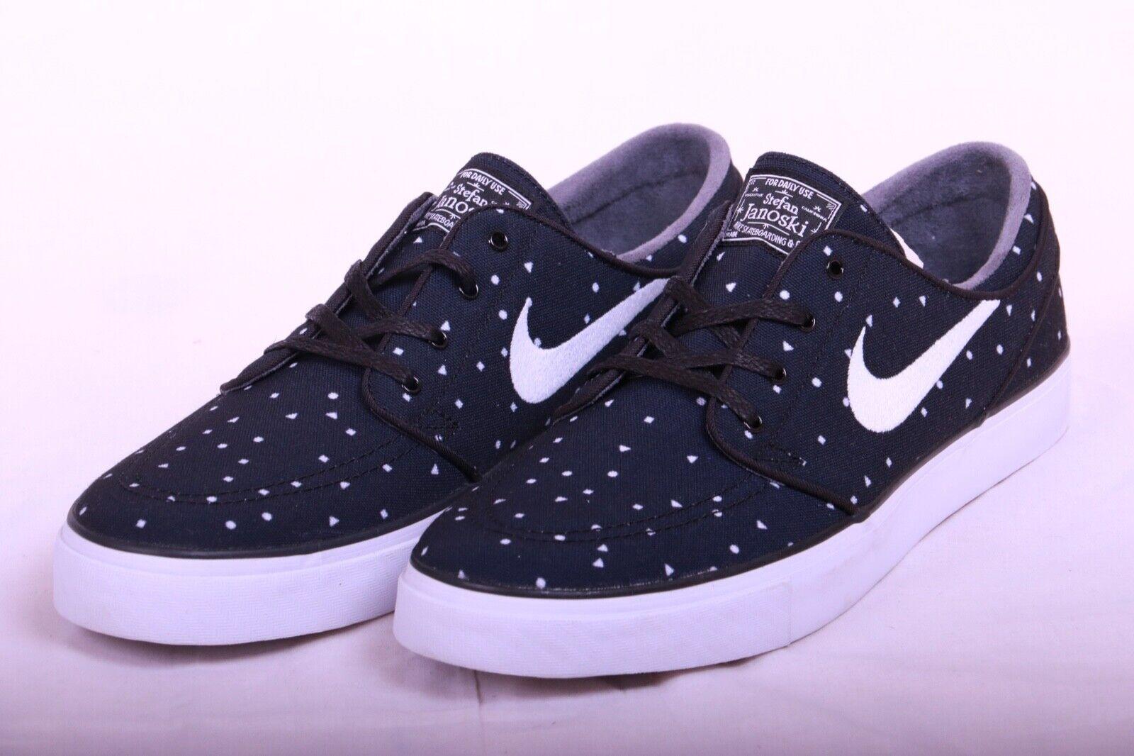 low priced 2d145 75839 Nike Men s Zoom Stefan Janoski Cnvs Cnvs Cnvs Prm Black White shoes Sz  705190 005 Sz