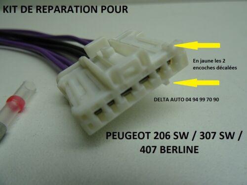 KIT DE REPARATION FAISCEAU CONNECTEUR BLANC POUR FEU ARRIERE PEUGEOT 307 SW NEUF