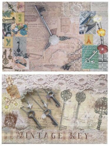 2x Reispapier Vintage Damen DIN A4 bedruckte Motiv-Strohseide Jittenmeier