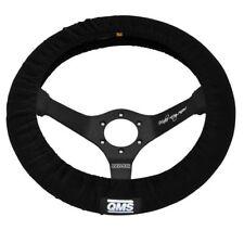 QMS Black Elasticated Race/Rally Racing Car Track Steering Wheel Cover