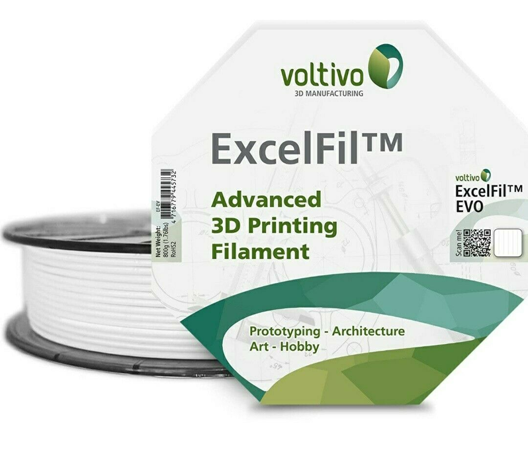 Voltivo Snow White ExcelFil EVO 2.85mm 3D Filament 800G EF-EVO-285-SWHIT