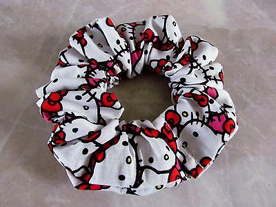 Hello Kitty Handmade Hair Scrunchie 100% Cotton