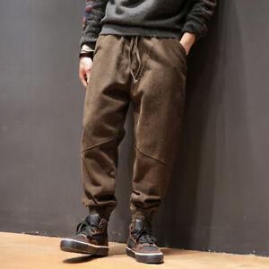con uomo cargo uomo giapponese Pantaloni cotone A1 coulisse da Pantaloni casuali allentati retrò in da Harem nfzfI7qwA