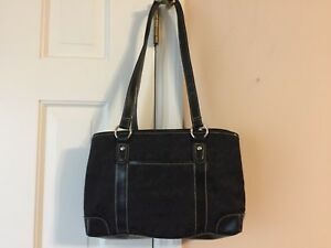 Ladies black Foux Leather Shoulder Bag