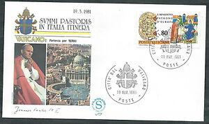 1981 Vaticano Viaggi Del Papa Partenza Per Terni - Sv