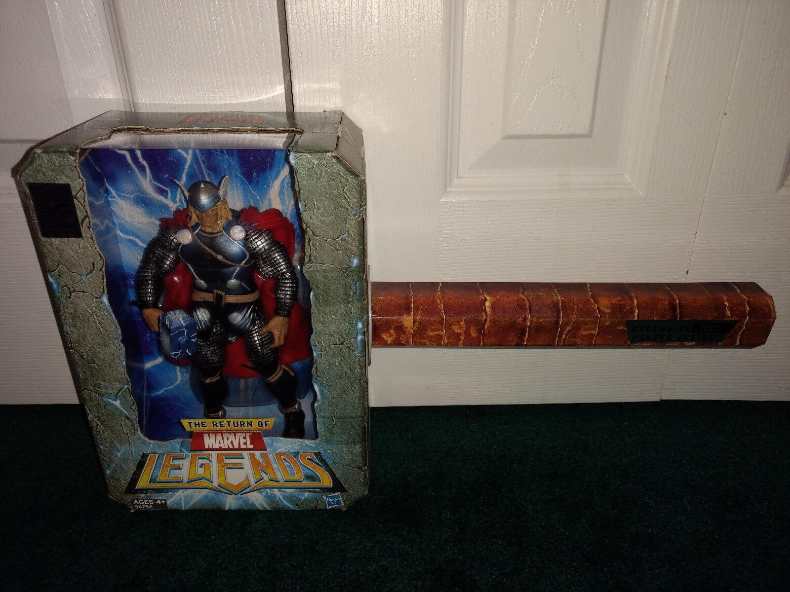 Thors hammer sdcc exklusive marvel - legenden hasbro 2011 mit exklusiven poster misp