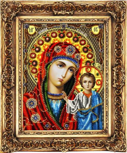 Kit de Bordado De Cuentas Abalorios Bordar-Kazan Madre de Dios