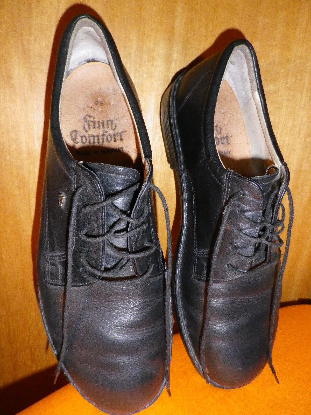 Finn Comfort Herrenschuhe Gr. 9 1 2 schwarz 0522514 1 Leder Qualitätsschuhe