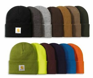 CARHARTT-Authentic-Watch-Hat-Knit-Beanie-Cap-All-Colors-in-stock-One-Size-A18