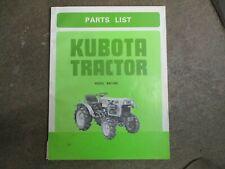Kubota B6100 B 6100 Tractor Parts Manual