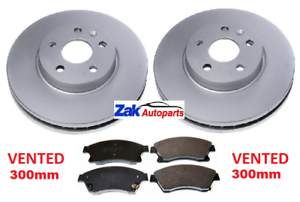 VAUXHALL-ASTRA-J-MK6-2-0-1-7-SRI-CDTi-TWO-FRONT-BRAKE-DISCS-AND-PADS-SET