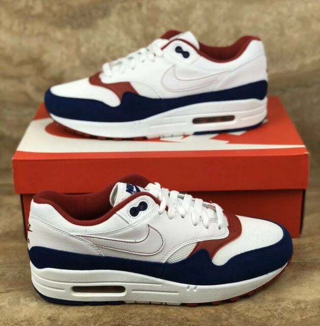 detailed images save up to 80% cheap Nike Air Max Moto 7 Sz 9 1/2 Mens Running Shoes White Royal Blue ...