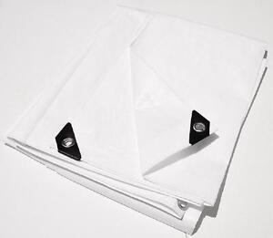 6' X 10' Blanc Extra Heavy Duty 12-mil Poly Tarp ** Livraison Gratuite **-afficher Le Titre D'origine Gagner Une Grande Admiration Et On Fait Largement Confiance à La Maison Et à L'éTranger.