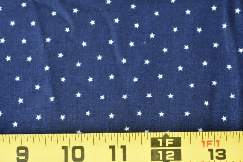 """Tan Stars on Navy Quilt  Cotton 26/"""" Long Fabric Traditions,P900 Vintage 1990"""