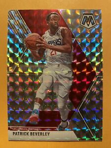 2019-20-Panini-Mosaic-Patrick-Beverley-Silver-Wave-Prizms-SP-88-MINT-RARE