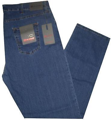Premuroso Jeans Uomo Taglie Forti 62 64 66 68 Holiday Pantalone Strech Leggero Over Missao