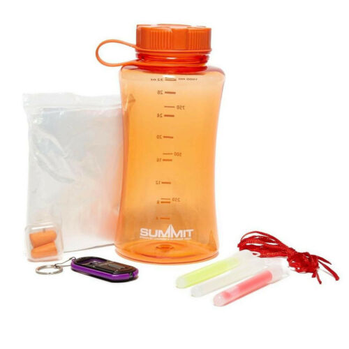 Summit Festival Set Rain Coat Water Bottle Rainy Outdoor Camping Fishing Kit