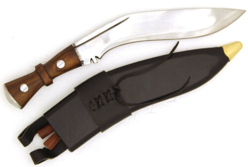 Genuine Gurkha Kukri Service Machete Brown Wood Handle