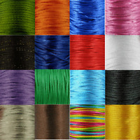 5m of 3mm Satin Rattail Silk Cord Stunning - many colours black red pink green