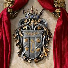 Medieval Gothic Regal Crown Count Dracula's Coat of Arms Wall Resin Plaque