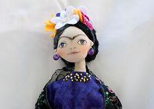 Frida kahlo,Mireyita's Dolls,Tilda Doll, Handmade doll, cloth doll.