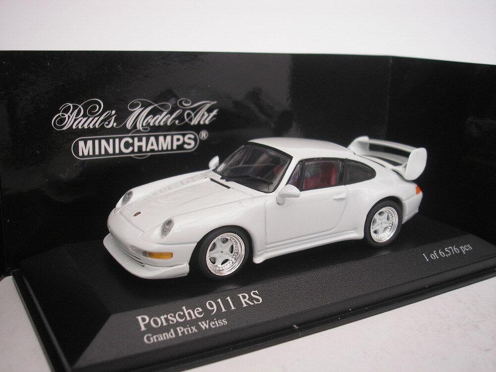 PORSCHE 911 RS 1995 GRAND PRIX BLANC 1 43 MINICHAMPS 430065105 NEUF