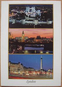 AK-London-Grossbritannien-mit-Tower-Bridge-Big-Ben-ungelaufen
