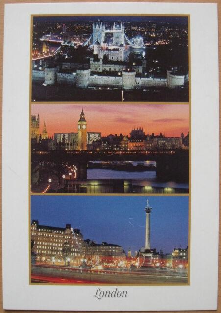 AK London (Großbritannien) mit Tower Bridge, Big Ben (ungelaufen)