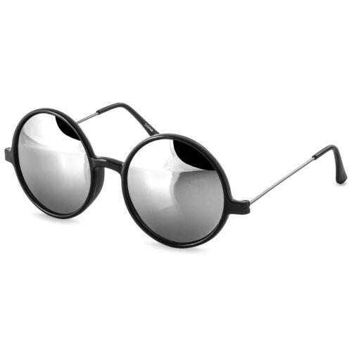 Caspar Donna Uomo Retrò HIPPI Occhiali da sole con giri lenti grandi a specchio