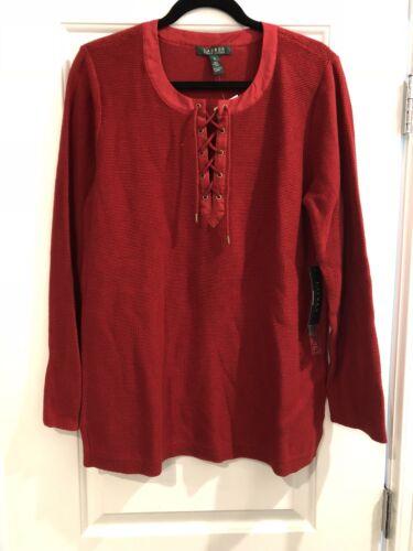 885032659798 snørebånd mærker Xl Kvinders Rød Ralph Ny Sweater Lauren med TOqxn7