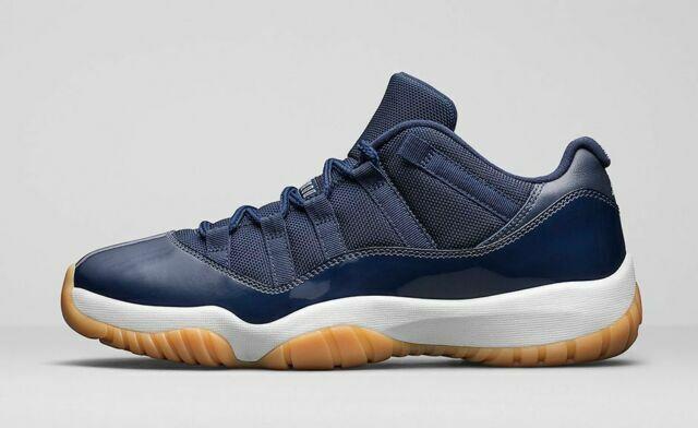 Nike 528895 405 Air Jordan 11 Retro Low Midnight Navy Gum Size 12 Shoes For Sale Online Ebay