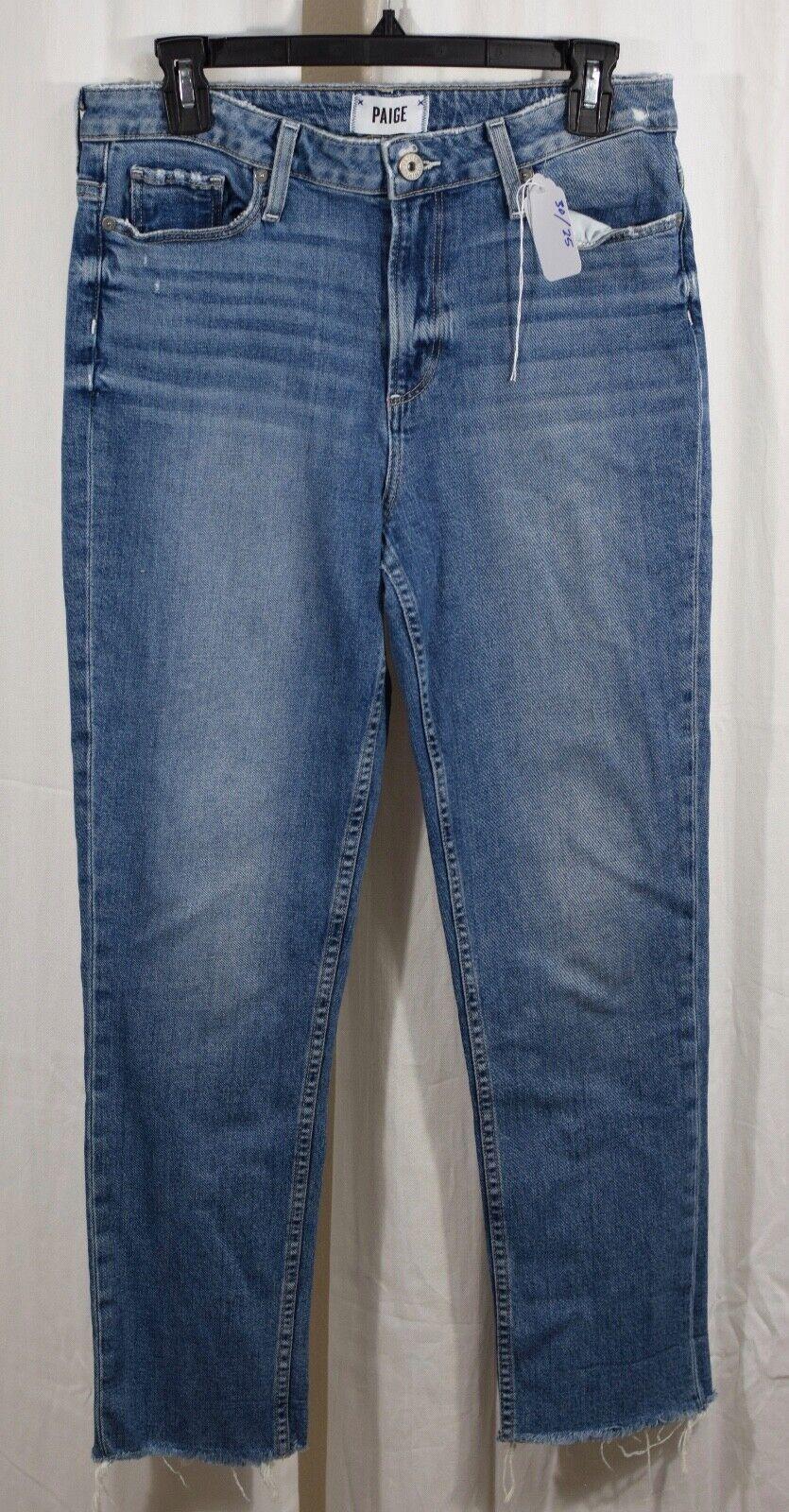 Paige Vintage De Alta Cintura Delgada Raw Dobladillo Hoxton Hoxton Hoxton Jeans Tamaño 30 1ffe84