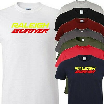 Raleigh Burner T-Shirt VARIOUS SIZES /& COLOURS Bicycle Enthusiast