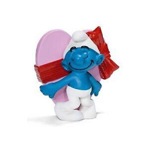 Valentine-039-s-Day-Smurf-Schleich-smurfs-toy-figure-NEW-figurine-carrying-heart
