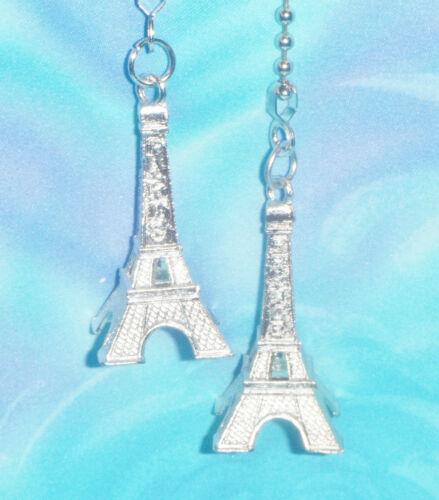 Set of Two ~ Eiffel Tower Paris Medium Metal ~ Ceiling Fan//Light Pulls
