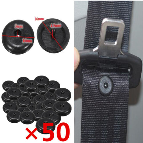 50Pcs Universal Clip Seat Belt Stoppers Buckle Button Fasteners Safety Auto Part