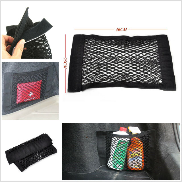 Auto SUV Station Wagon Car Seat Rear Trunk Storage Cargo Elastic Net Magic Tape