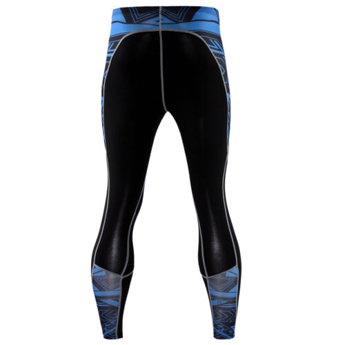 Men Workout Long Compression Tights Gym Fitness Running Cycling Yoga Pants Black