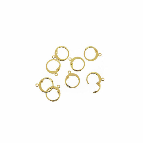 FD885 Lever Back 4 Pieces 2 Pairs Gold Tone Stainless Steel Earrings