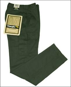 Bnwt-Authentic-Women-039-s-Valley-Wrangler-Cargo-Combat-Jeans-Trail-Fit-Green
