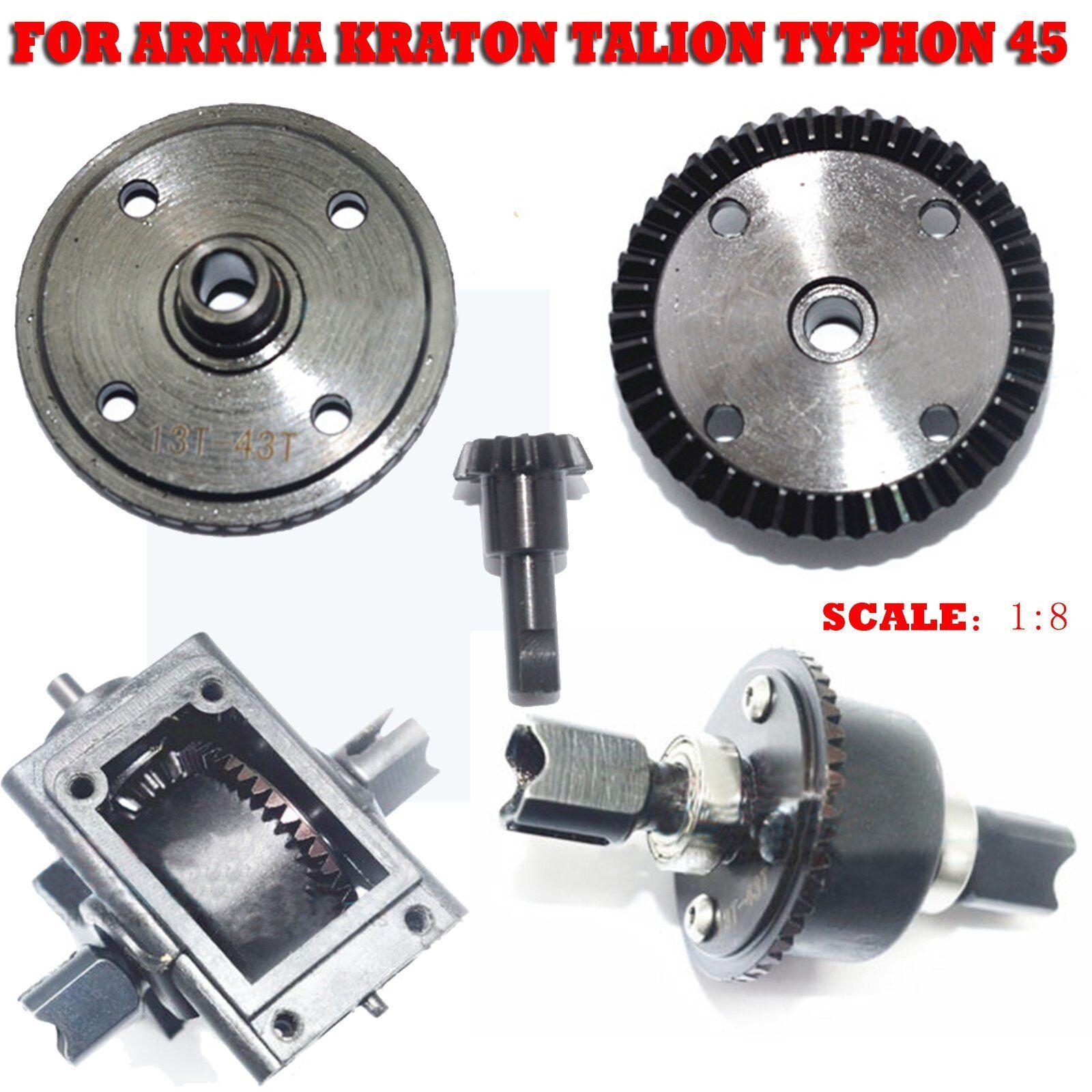 Hard Steel F&R 43T 13T Differential Gear for ARRMA KRATON TALION TYPHON