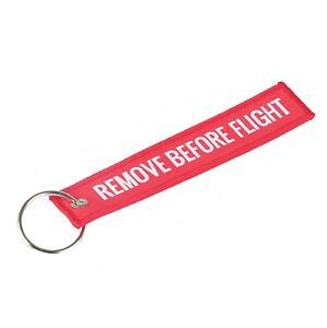 Image is loading REMOVE-BEFORE-FLIGHT-Luggage-Tag-Label-Key-Chain- e40ebebe7d