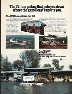 Details about CESSNA 185 SKYWAGON ON FLOATS PUTS YOU DOWN WHERE GAME LEAST  EXPECTS ALASKA AD