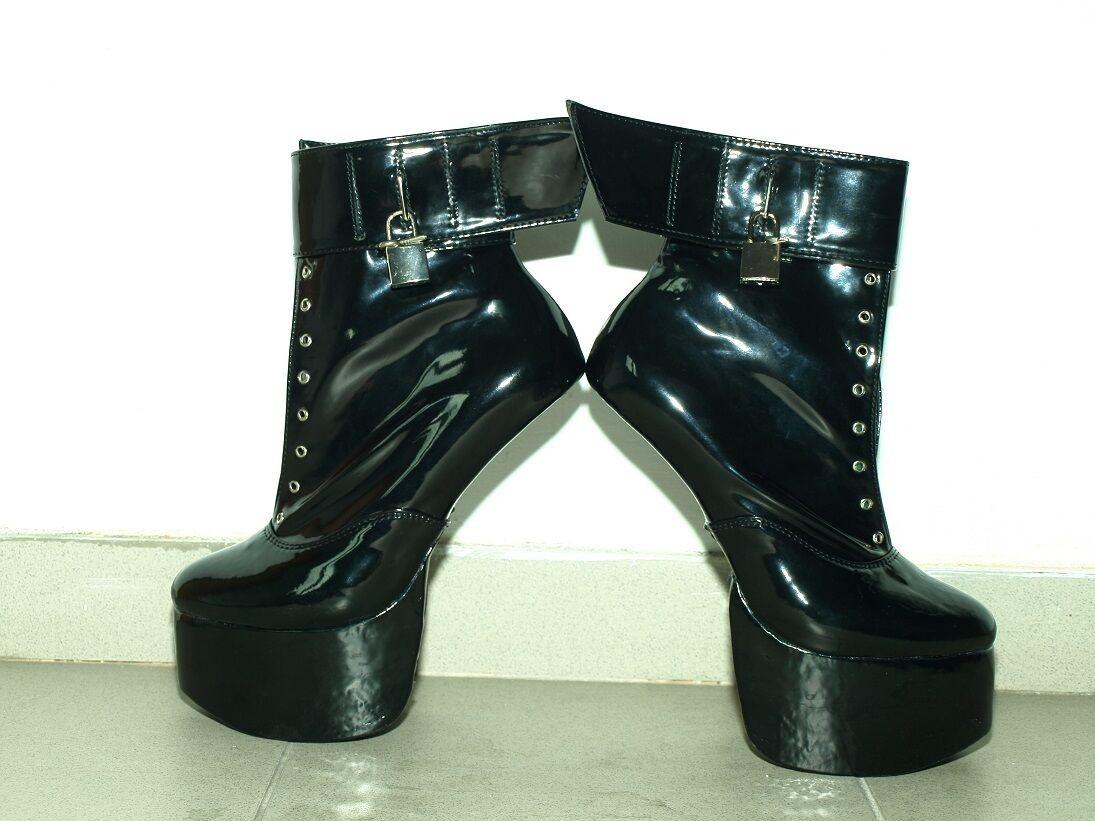 PONY LATEX RUBBER Stiefel Größe 4-12- PLATFORM 8CM- PRODUCER- POLAND fs738