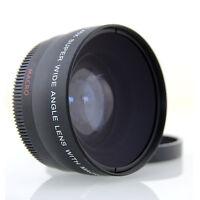 0,45x Weitwinkel + Makro Linse 58mm für Samsung NX300 NX210 18-55mm /3.5-5.6 OIS