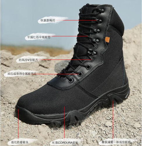 NEW Outdoor Mens Army Camo Military Tactical Camping Climbing Hunting Boots